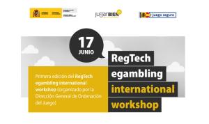 RegTech egambling international workshop, portada de una página web