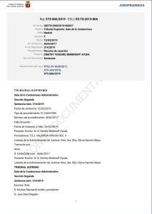 Sentencia del T.S. de 12 de Marzo de 2019 (Sala Tercera, Sección Segunda), de 12 de Marzo, fotografía del texto escrito