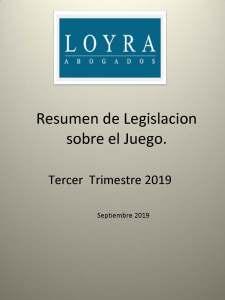 Legislación sobre Juego, fotografía de la portada