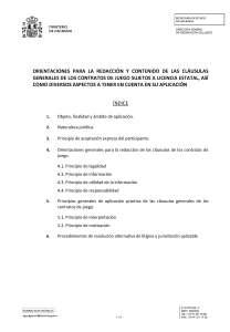 DGOJ:Orientacion contratos juego licencia estatal online. Texto escrito