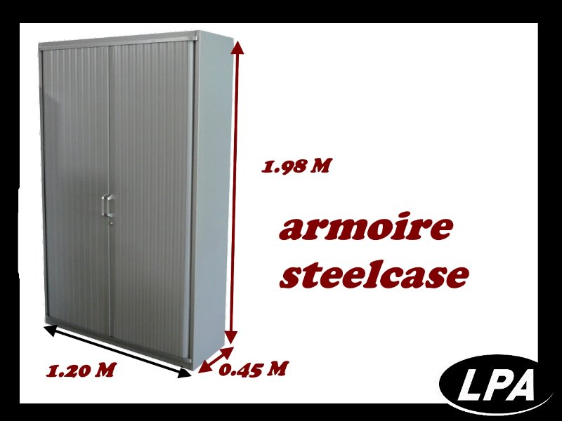rideaux steelcase armoire haute