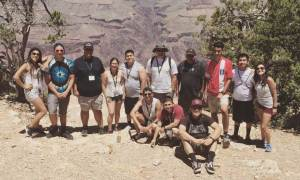 Boy Scouts Exploring the Grand Canyon
