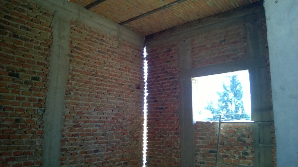 Ceiling, walls and window for the senior pastor's office.