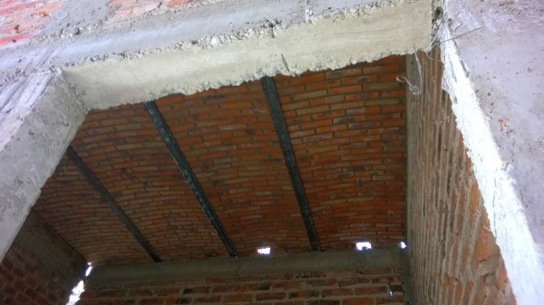 Boveda ceilings are starting to take shape.