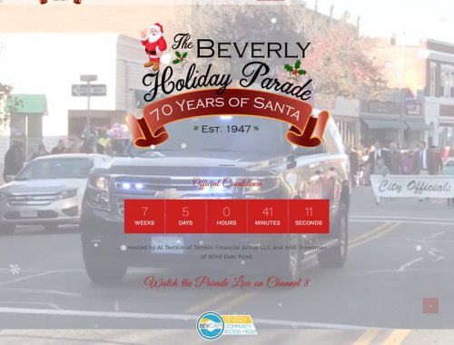 New Website for Beverly Holiday Parade by LPCS Websites Danvers