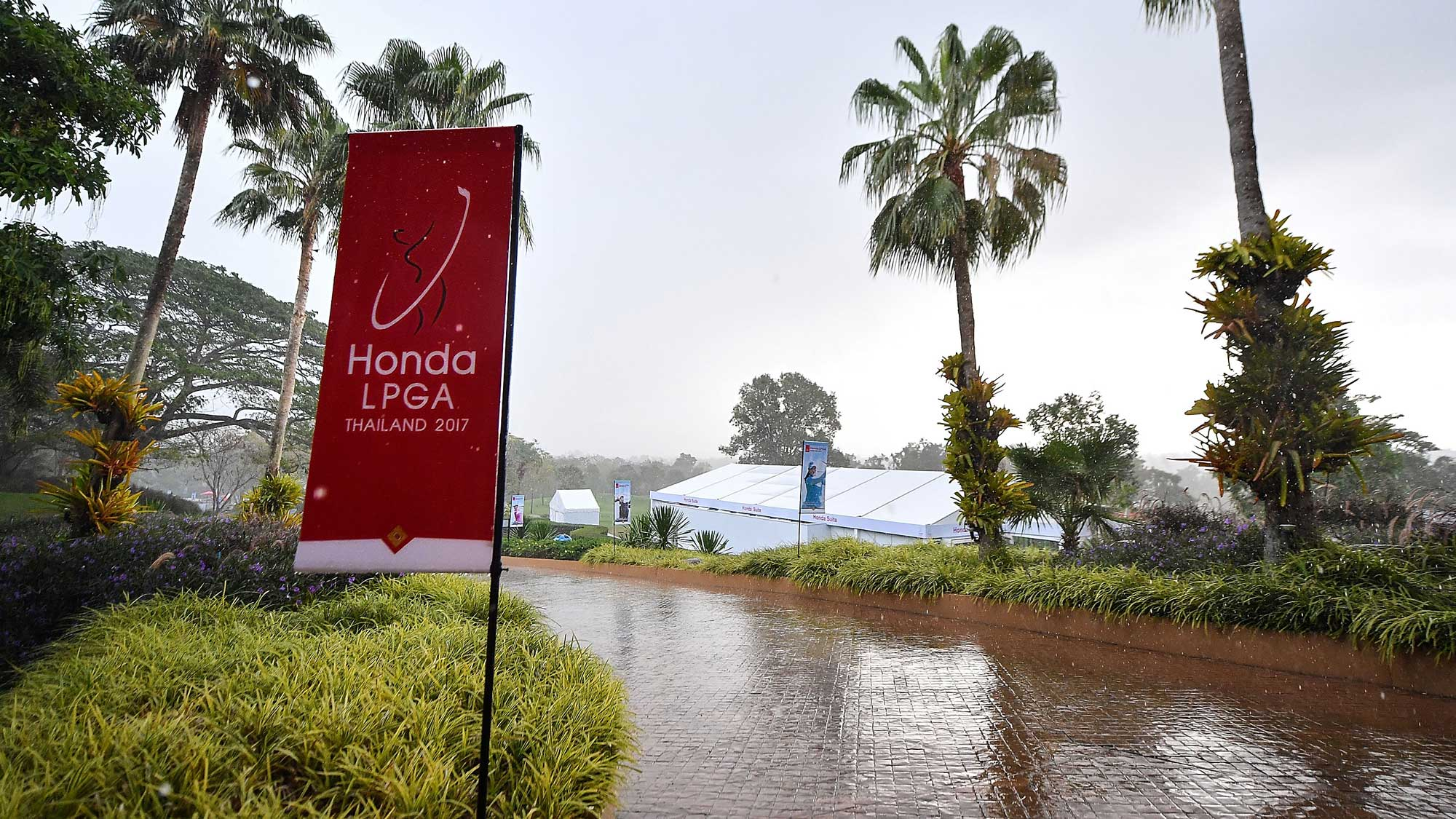 Inclement Weather During Round 2 of the Honda LPGA Thailand