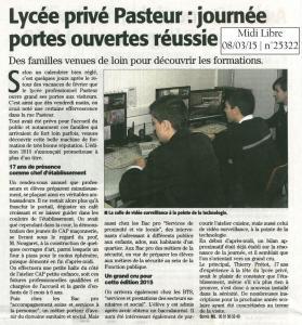 Article du Midi Libre du 08/03/15