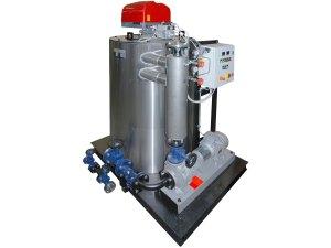 Riscaldatore olio diatermico verticale RO30 con bruciatore a gas