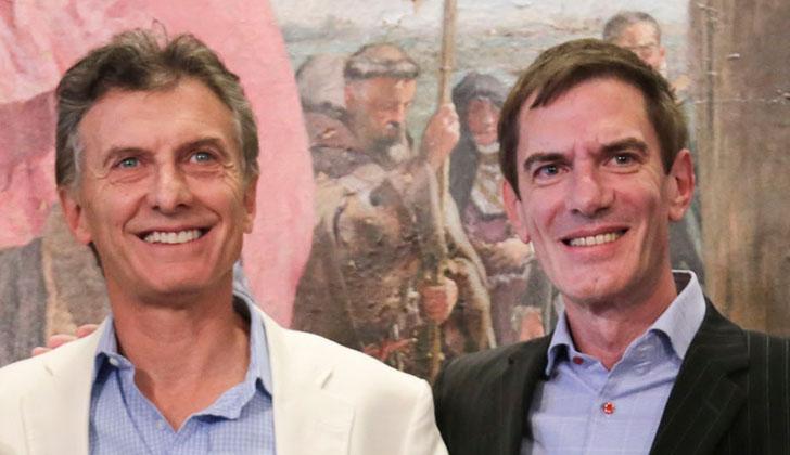 Darío Lopérfido junto al Presidente Mauricio Macri. Foto: Gobierno de Buenos Aires.