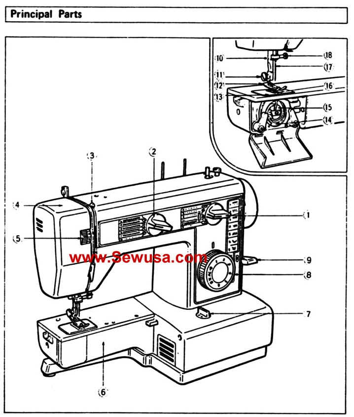 Brother Model VX 560 Instruction Manual PDF