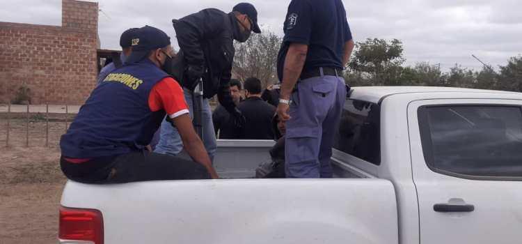 LOGRARON DETENER A LOS PRESUNTOS AUTORES DEL CRIMEN DE LA MUJER EN EL 104 VIVIENDAS