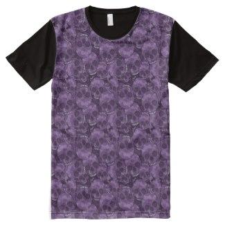 Purple Skulls All-Over Print T-shirt 1