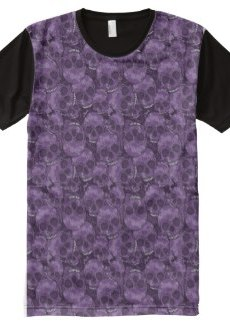 Purple Skulls All-Over Print T-shirt 1