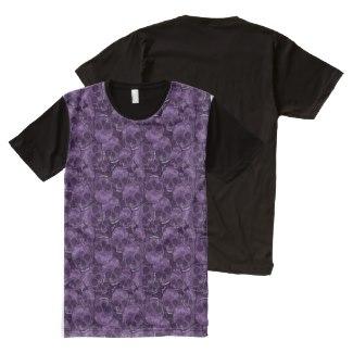 Purple Skulls All-Over Print T-shirt