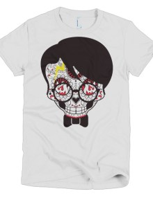 Skull Girl - Short sleeve women's t-shirt 1