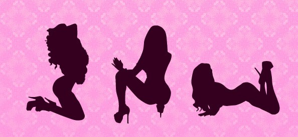 Attractive Girl Silhouettes
