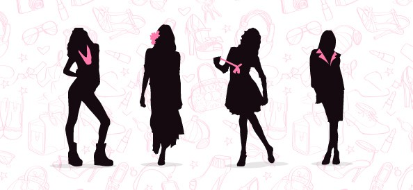 Fashionable Women Silhouette
