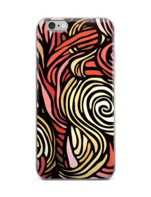 Color swirl Red iPhone case 1