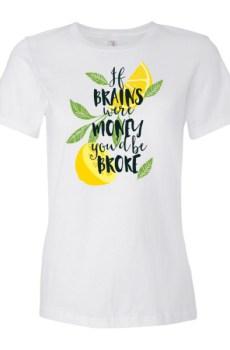 If Brains were Money - Women's short sleeve t-shirt 5