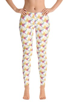Floral Flower Pattern Leggings 2