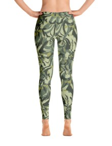 Green Camo Swirl Leggings 3