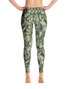 Green Camo Swirl Leggings 3