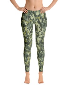 Green Camo Swirl Leggings 2