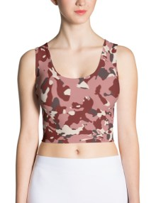 Red Camo Crop Top