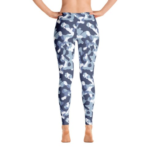 Blue Camo Leggings 3