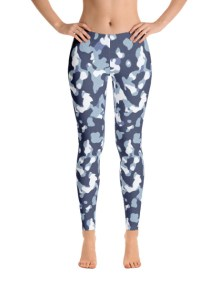 Blue Camo Leggings 2