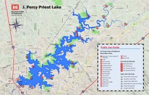 Nashville District > Locations > Lakes > J Percy Priest Lake > Maps