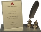Writer of the Century Award — Mondadori PressFor the assistance L. Ron Hubbard's books have given to Mankind.
