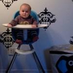henrik in high chair