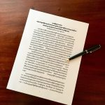 Pen atop Cambodia joint statement in Khmer