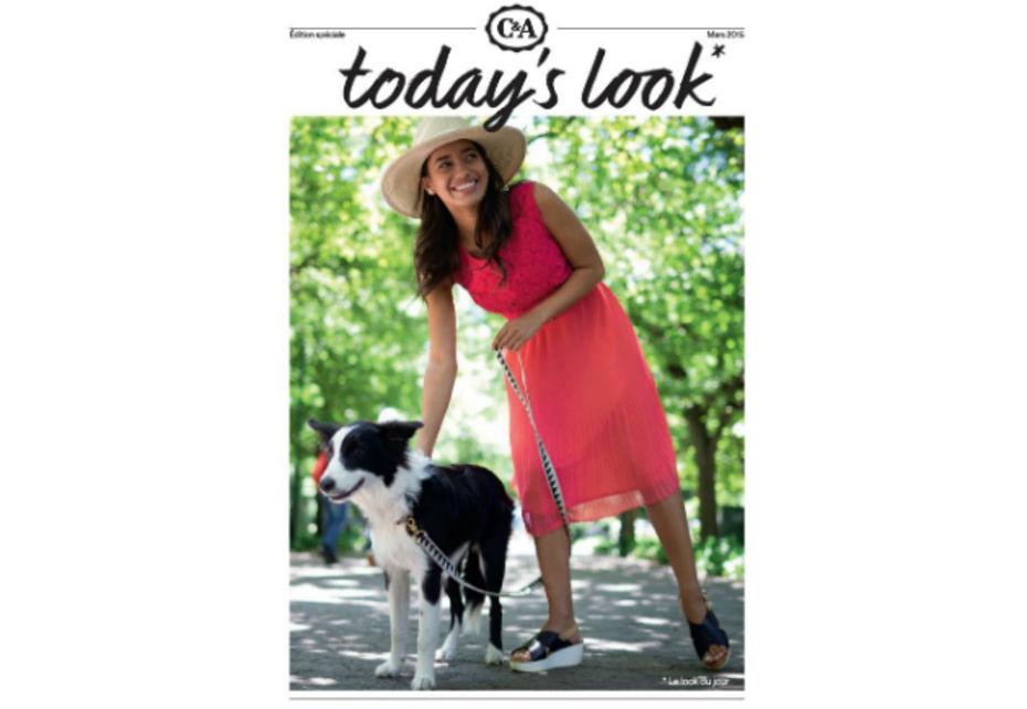 """La campagne """"Today's look is"""" de C&A sera visible en affichage dès le mois de mars 2015."""