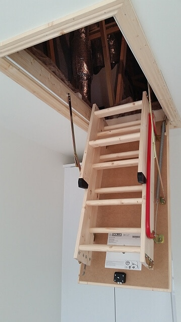 Folding Attic Ladder Dublin & Attic Ladder Solutions Attic Stairs Ladders Lights Flooring ...