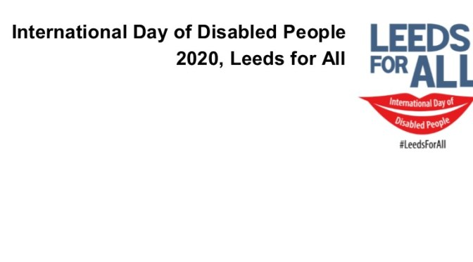 International Day Of Disabled People – 2020