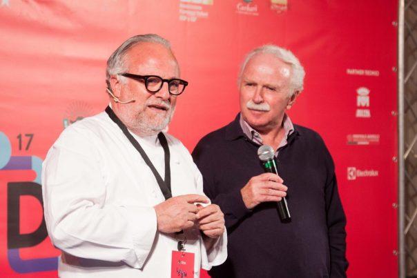 Lo chef Antonello Colonna durante il suo intervento ad LSDM. Foto di Francesca Massa