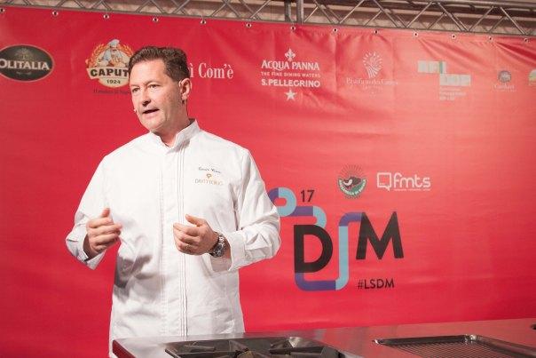 Lo Chef Chicco Cerea ad LSDM. Foto di Francesca Massa
