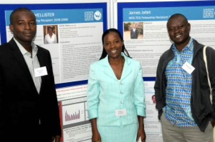 Previous TEG Fellows at the Group's 40th Symposium (from left to right: Nakua Emmanuel Kweku, Phellister Nakamya and Tim Awine).
