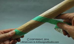 carving a  walking stick snake