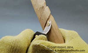 stop cut, wood carving free project by Lora S. Irish