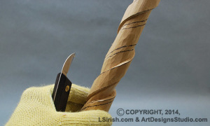 free wood carving pattern by Lora Irish