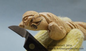 free wood carving instructions by Lora Irish