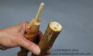free wood carving cane instructions by Lora Irish