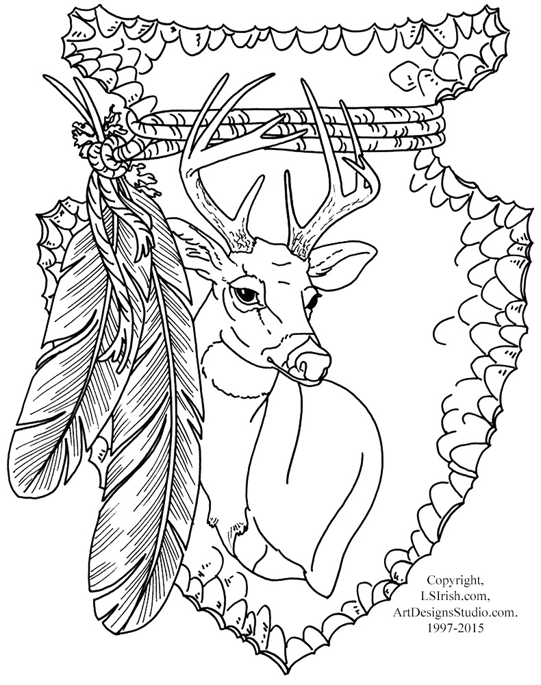 Mule Deer Relief Wood Carving Free Project by Lora Irish