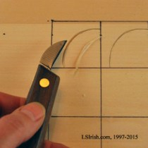 Stop cut made with a bench knife