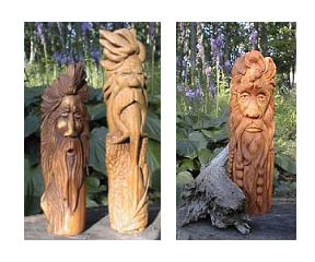 beginner's wood spirit carving