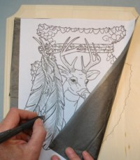 How to trace your pattern onto the wood.