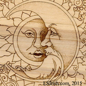 Simple face shading in Pyrography